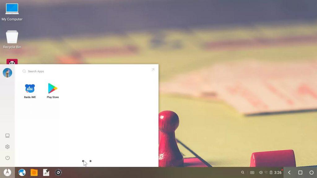 رابط کاربری Phoenix OS