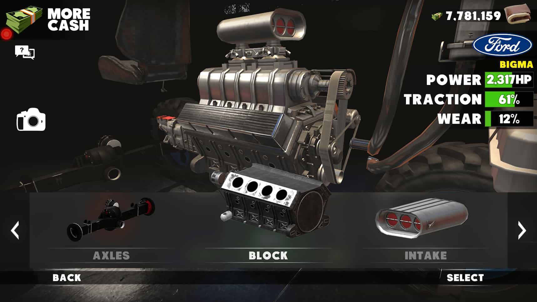 تجهیزات در بازی Trucks Off Road