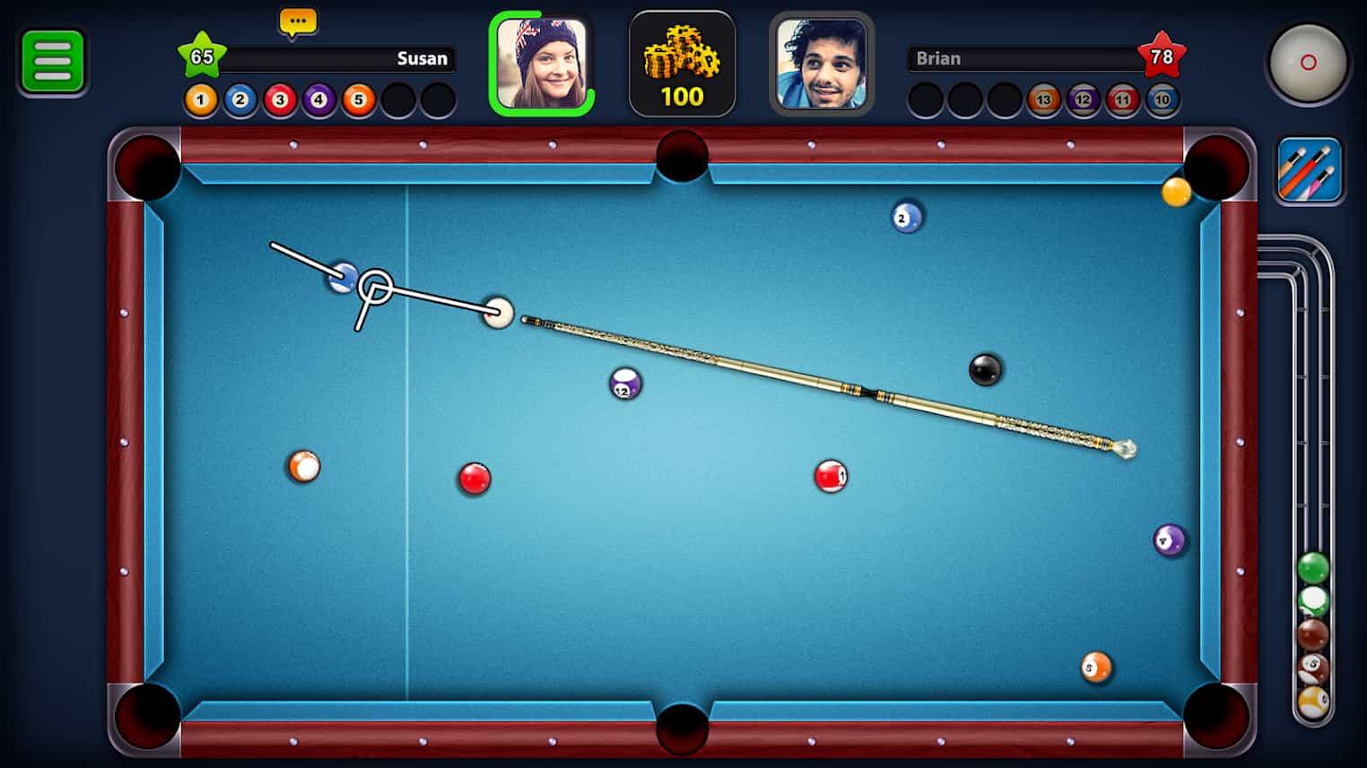 بازی بیلیارد 8 Ball Pool