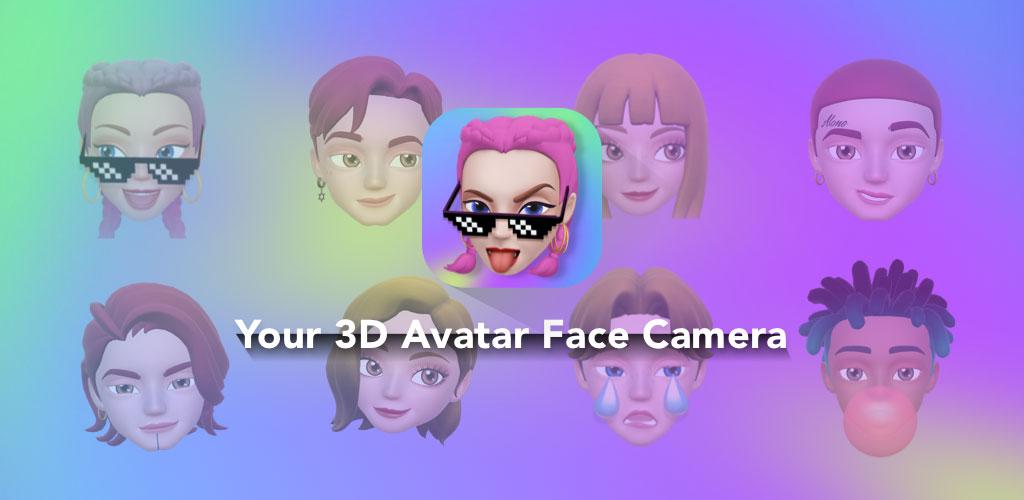 رنامه ساخت میموجی سه بعدی Face Cam   Avatar Face Emoji
