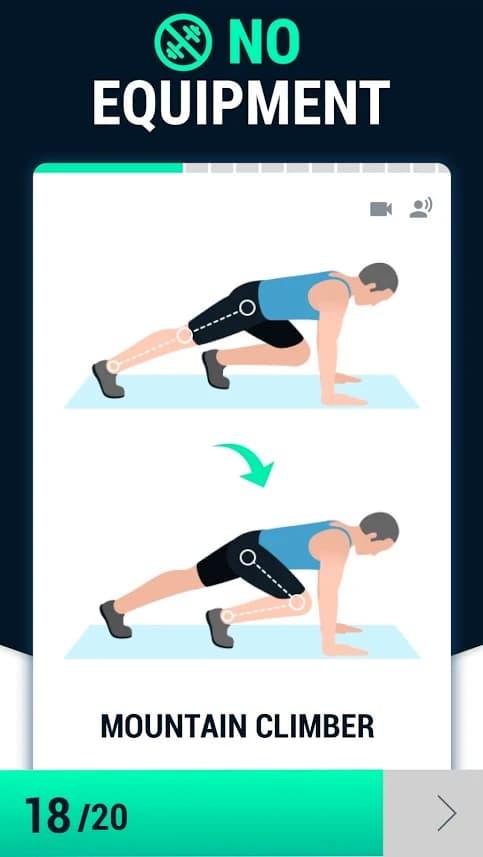 تمرین ها - اپلیکیشن کاهش وزن