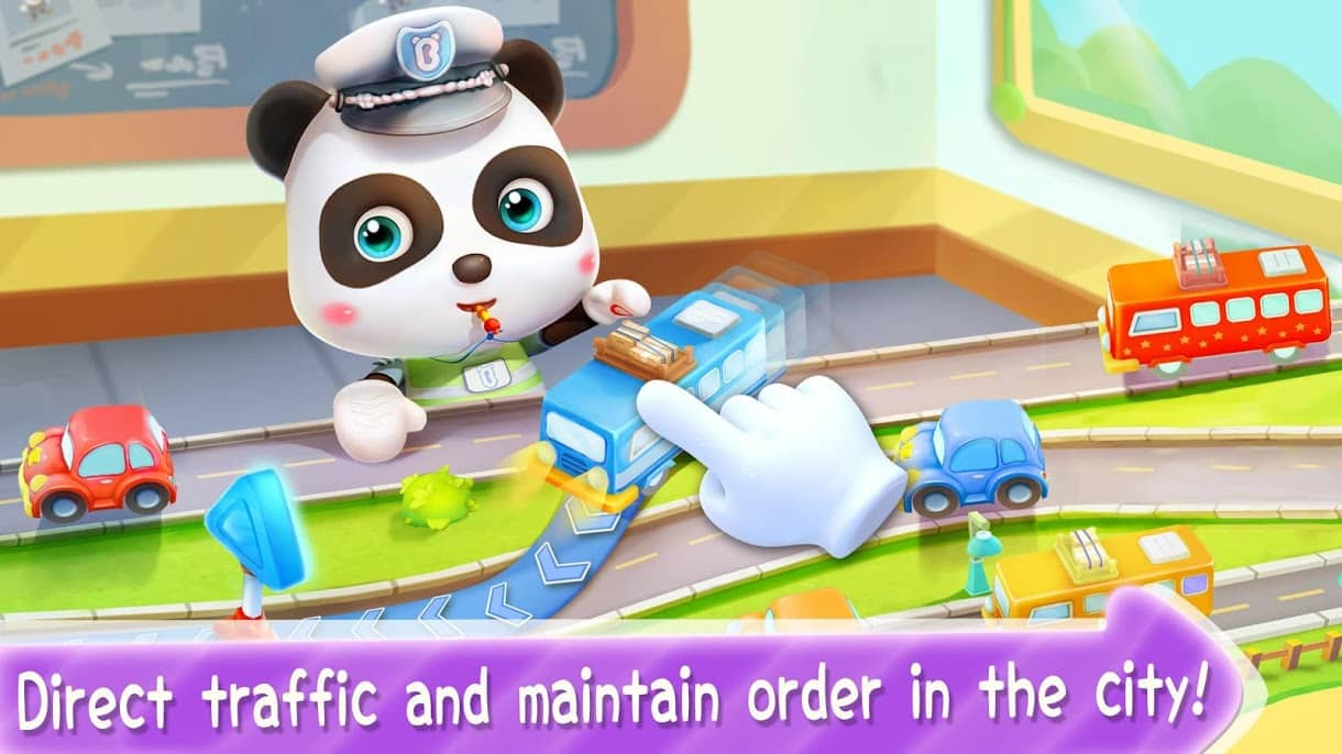 بازی Little panda Policeman