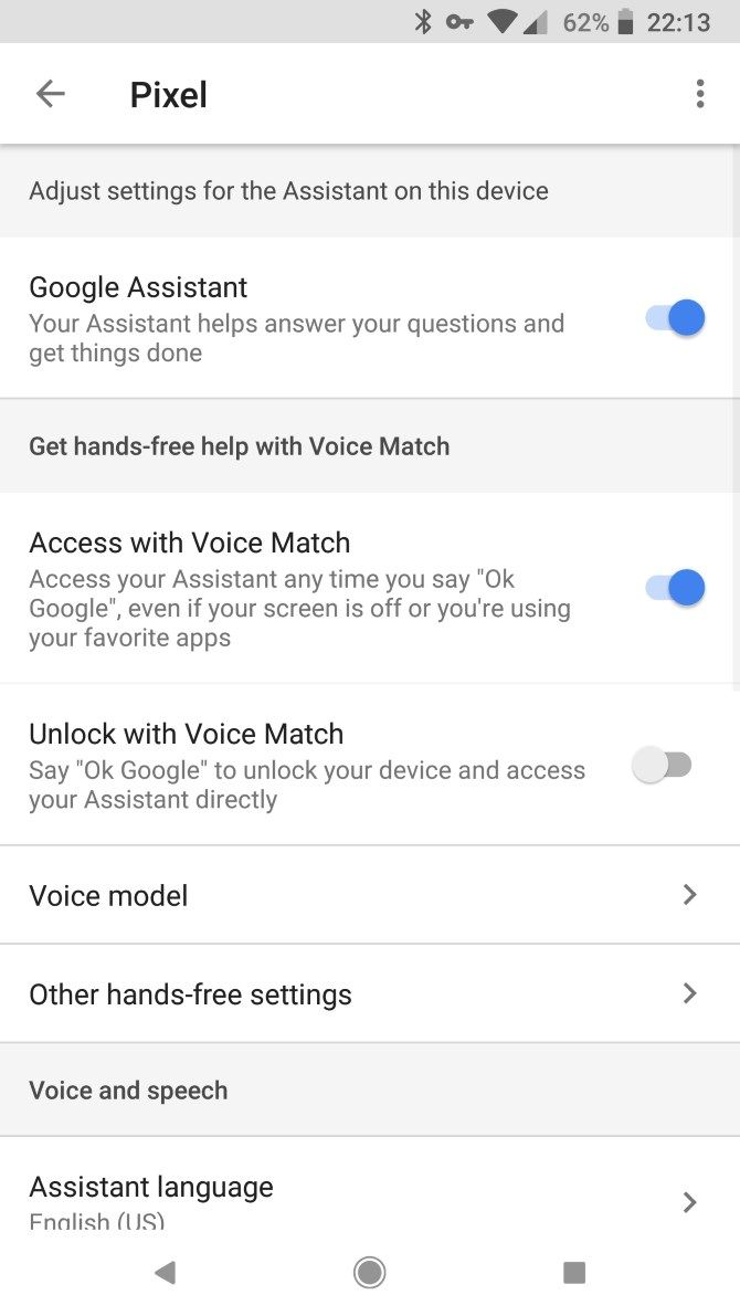 Unlock with Voice Match در قفل صوتی