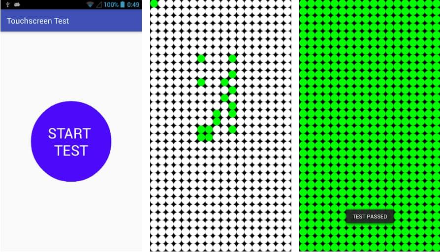 Touchscreen Test برای تلفن های سامسونگ
