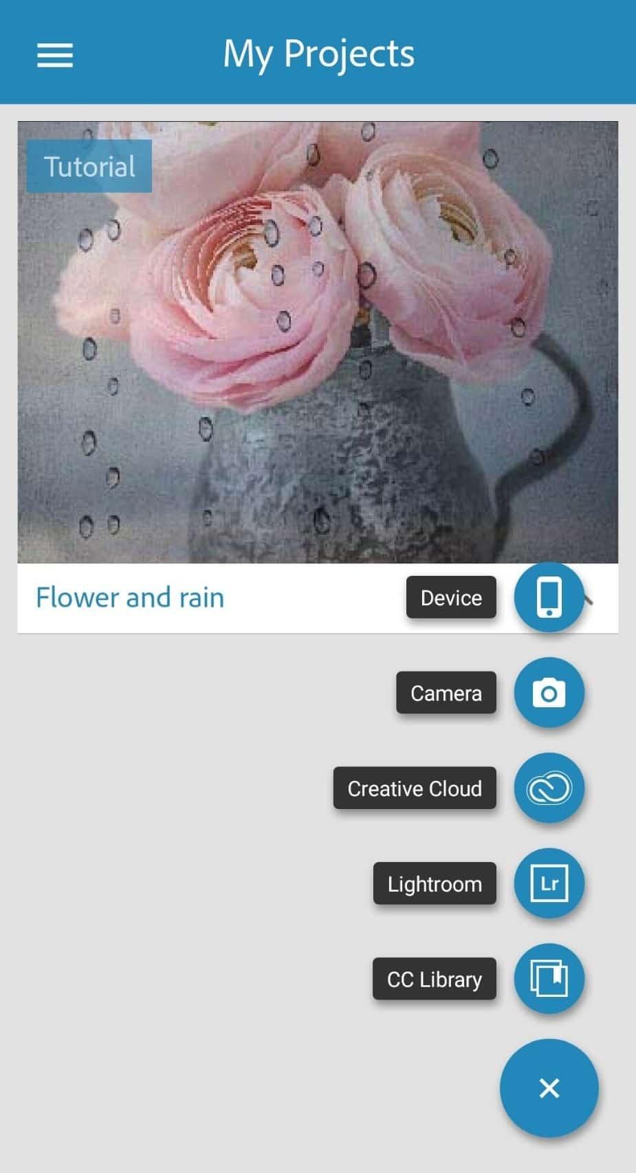 انتخاب عکس برای Adobe Photoshop Mix