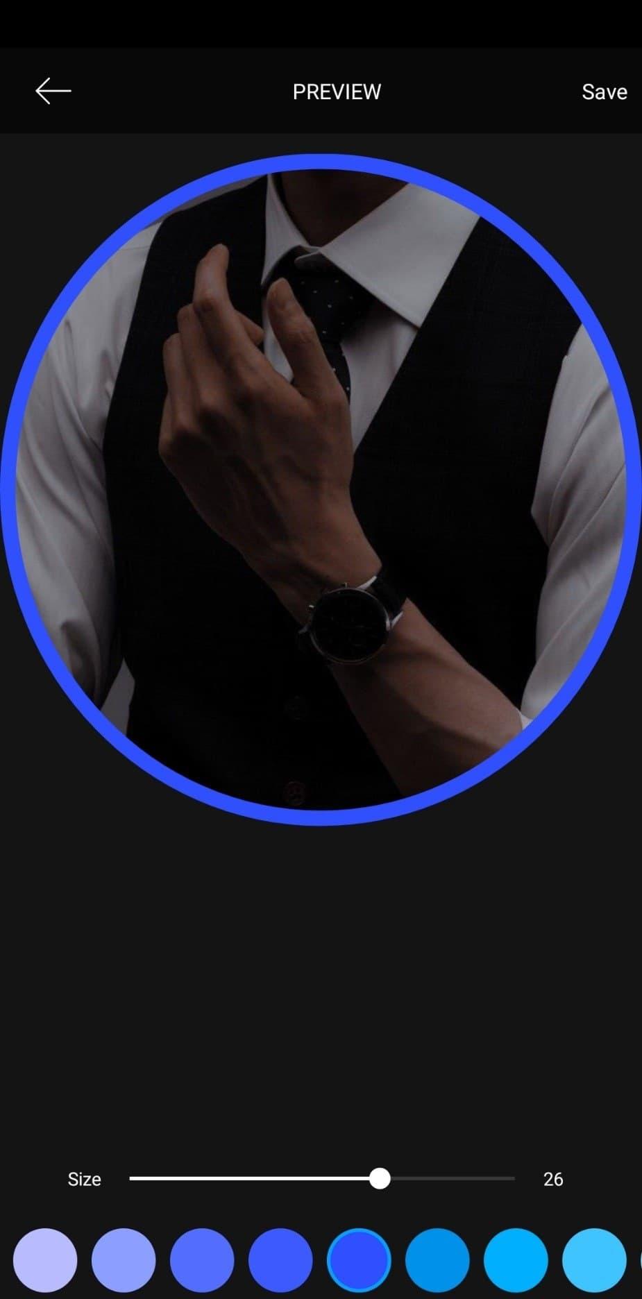 دایره آبی برای تیک آبی پروفایل اینستاگرام