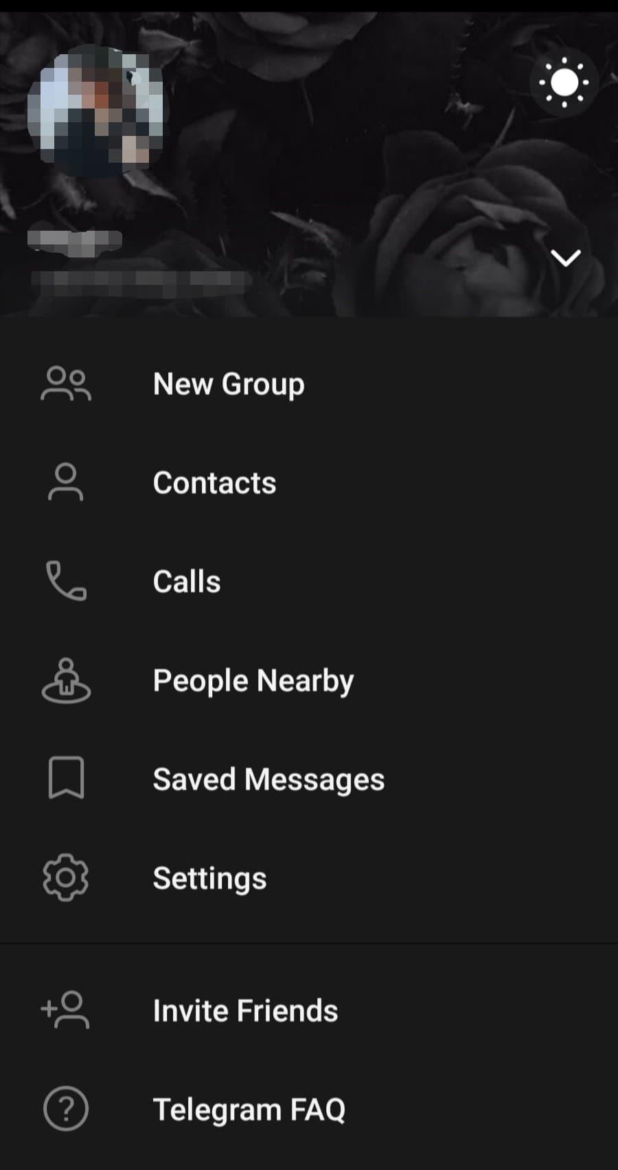 آموزش رفتن به تنظیمات تلگرام