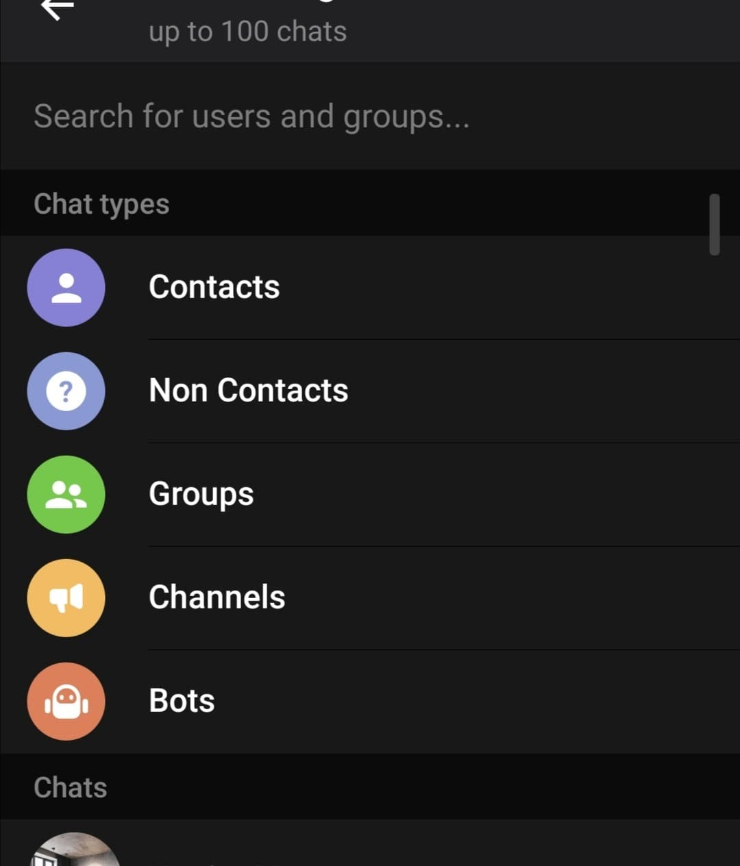 قابلیت های دسته بندی تلگرام