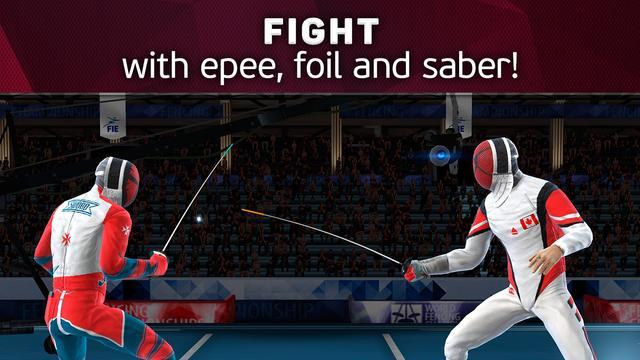 بازی ورزشی مبارزه های شمشیر بازی