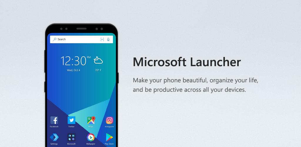 لانچر برتر شماره سه : Microsoft Launcher