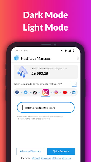 Hashtags Manager