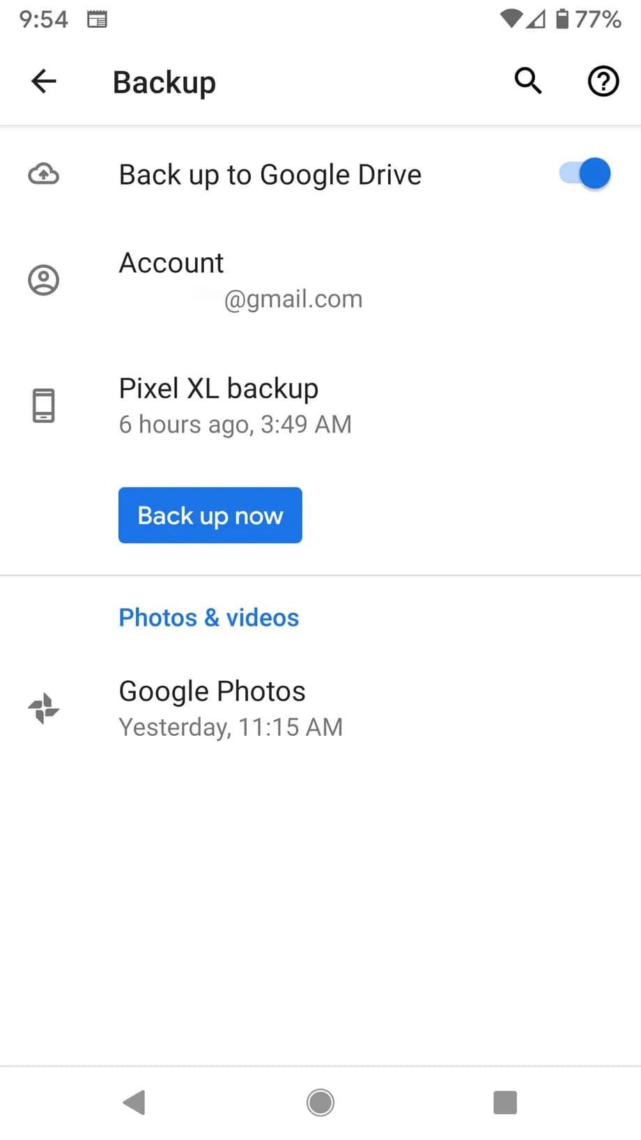 آموزش بکاپ با گوگل وان