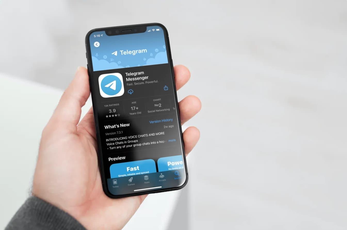 حذف خودکار پیام تلگرام در ایفون ای او اس