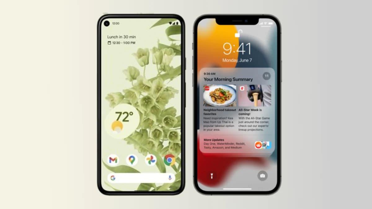 رقابتی بروزرسانی های اندروید 12 و IOS 15 اپل