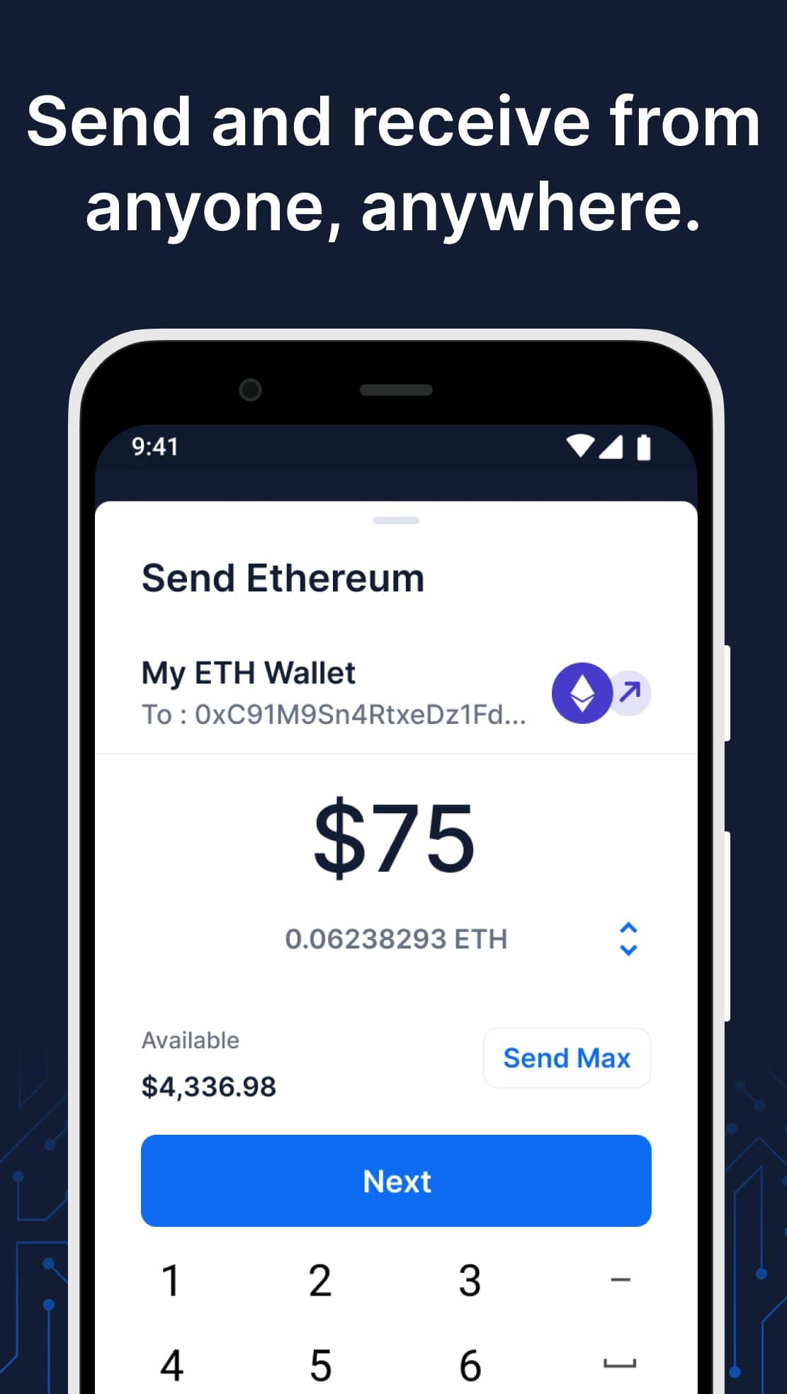 اپلیکیشن Blockchain Wallet کیف پول بلاکچین